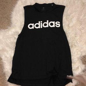 Black adidas muscle tank